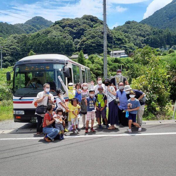 国東コミュニティバス『ポンチョ』上成仏バス停留所お迎えプロジェクト @ 上成仏バス停留所